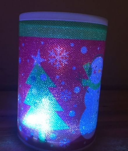 LED Battery Operated Colour Changing Christmas Candle ~ Santa & Snowman (H)